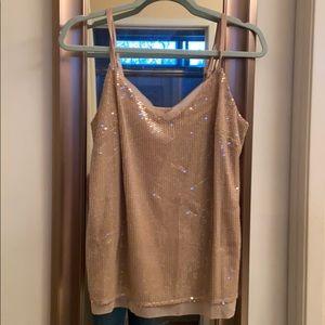 NWT WHBM cobblestone all over sequin camisole.